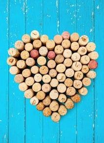 corcho vino san valentin